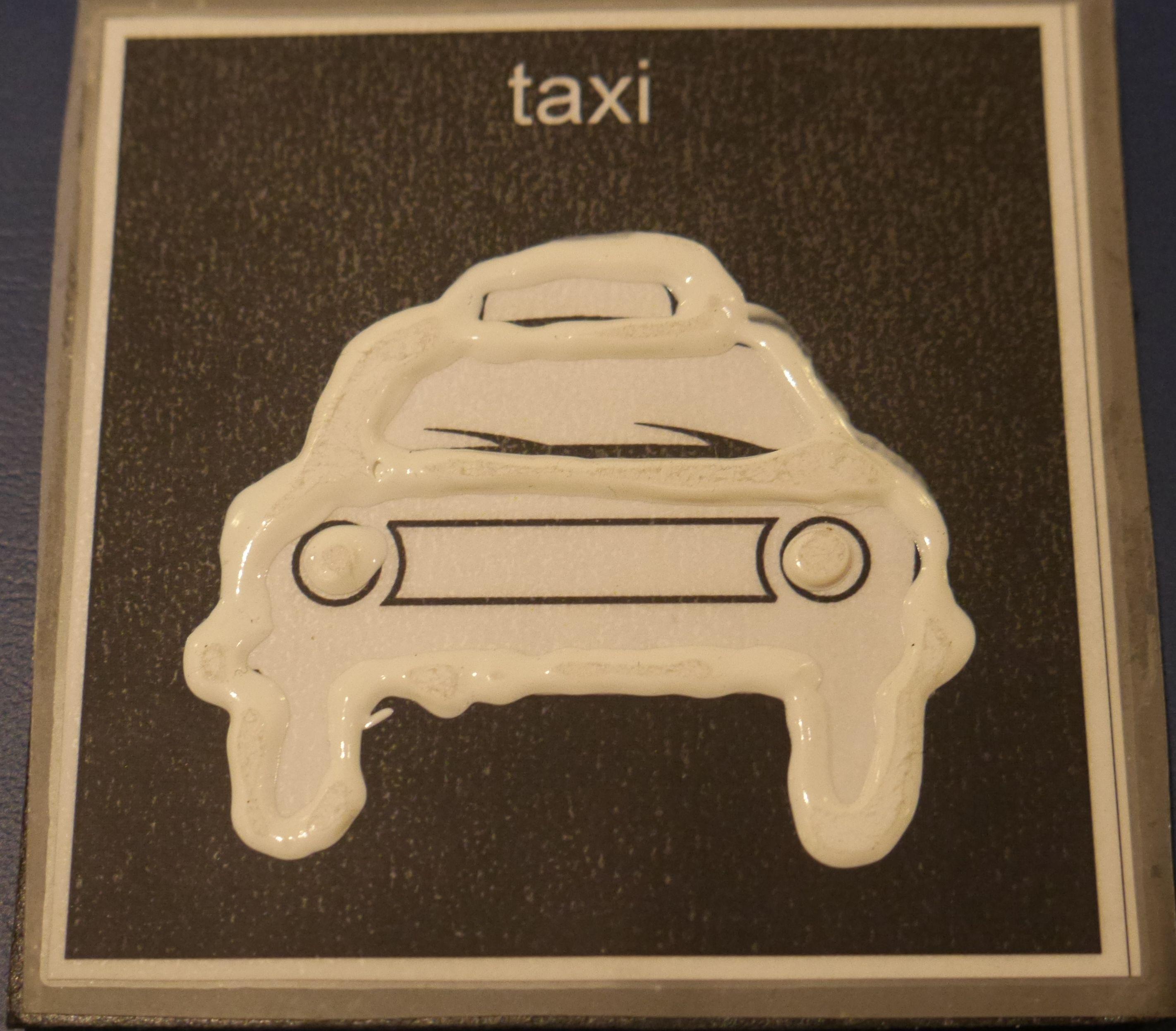 taktil bild på taxi