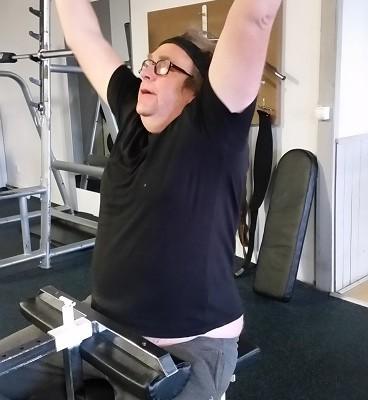 Lars-Ingvar Persson på gymmet