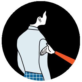 signal för flytta dig lite, illustration