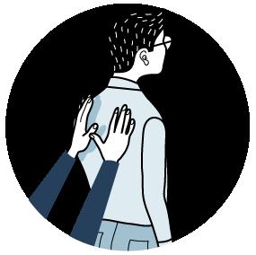 Illustration av signalen för att applådera