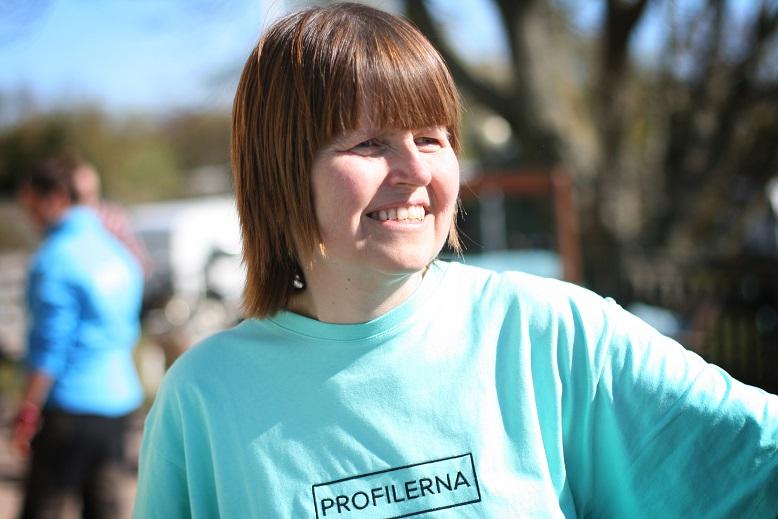 Anne-Maj Magnström i ljusblå tröja.