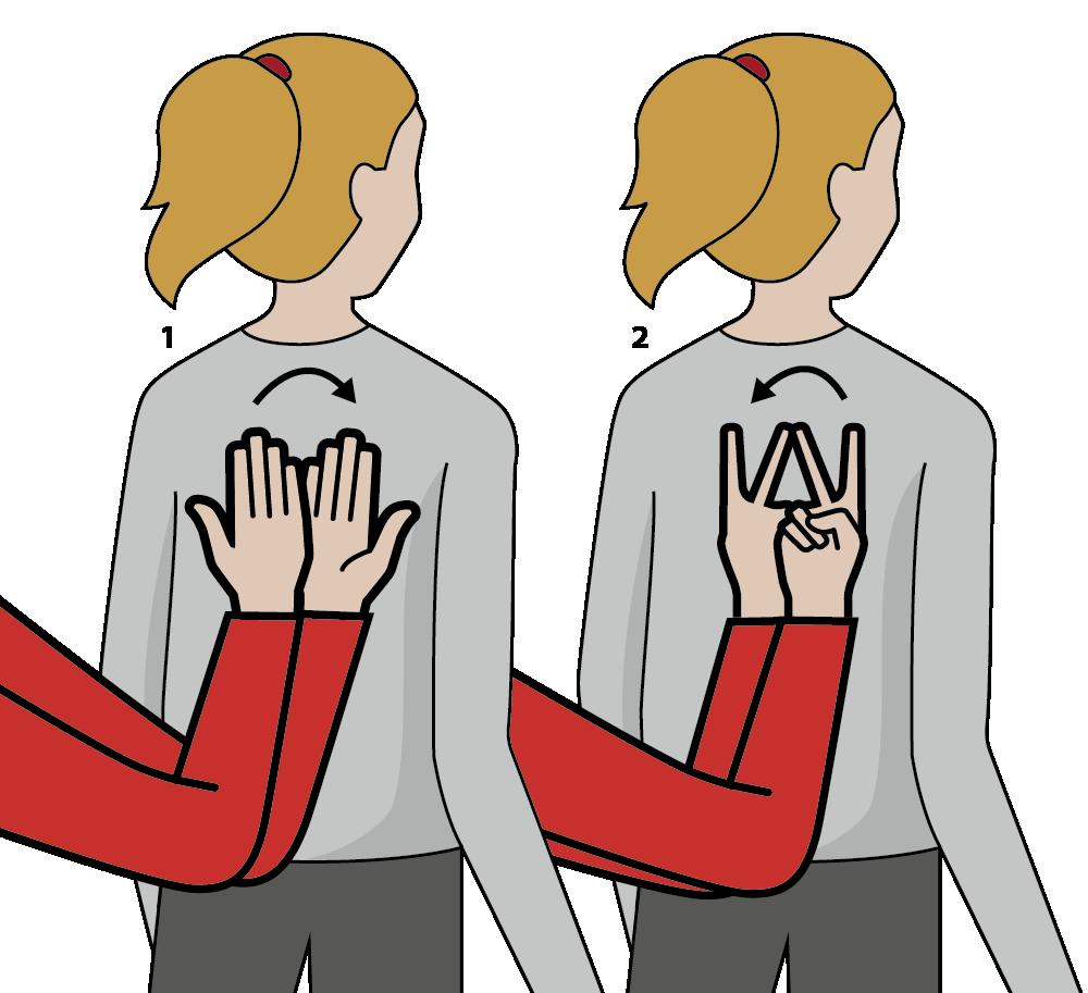 signalen för tolkbyte, illustration