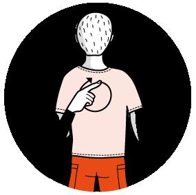 signalen för ansikte, illustration