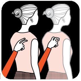 Illustration av signalen för bensträckare/kort paus