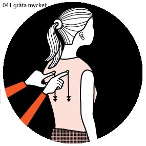 Illustration av signalen för att gråta mycket