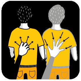 signal för gäspa, illustration