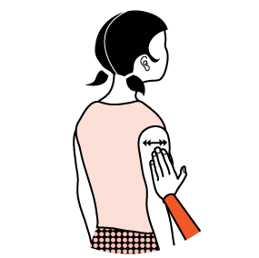 Illustration av signalen för nej