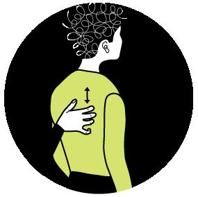 Illustration av signalen för att vara nervös