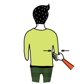 Illustration av signalen för att någon vill krama dig