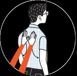 Illustration av signalen för tyst