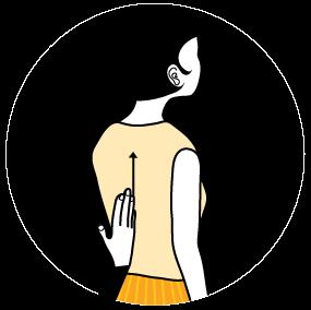 Illustration av signalen för att räcka upp handen