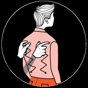 Illustration av signalen för rädd