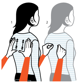 Illustration av signalen för att prata, samtala