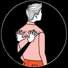 Illustration av signalen för att skriva på dator