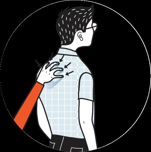 signal för missnöjd, illustration