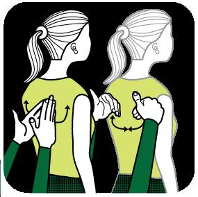 Illustration av signalen för att vara tårögd