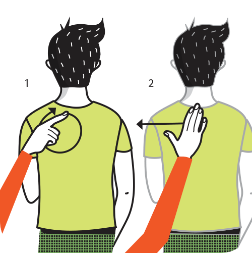 signal för ta bort tallrik, illustration