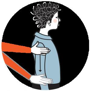 Illustration av signalen för förlåt