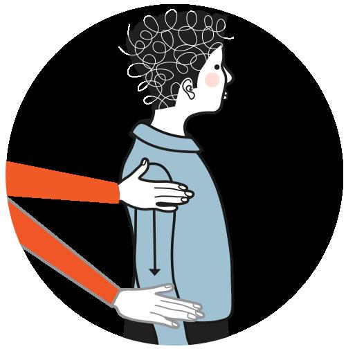 signal för förlåt, illustration
