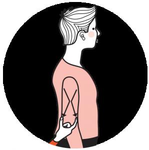 Illustration av signalen för kvinna