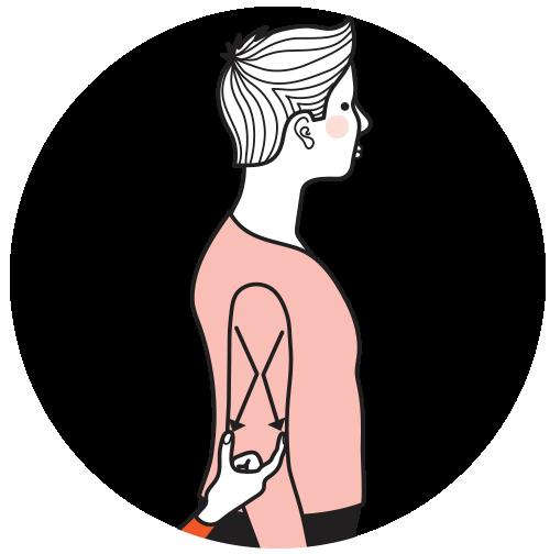 signalen för kvinna, illustration