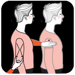 Illustration av signalen för en lång kvinna