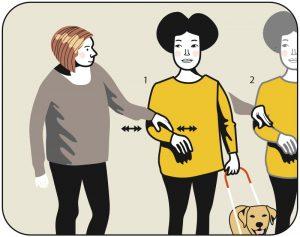 Illustration av signalen för belöning till hunden