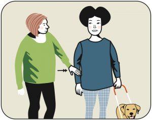 Illustration av signalen för beröm till hunden, alternativ 1