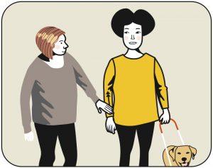 Illustration av signalen för beröm till hunden, alternativ 2