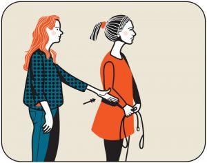 Illustration av signalen för att kalla in hunden, alternativ 2