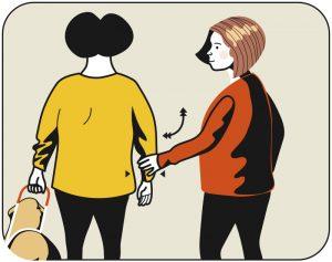 Illustration av signalen för att pendla med armen