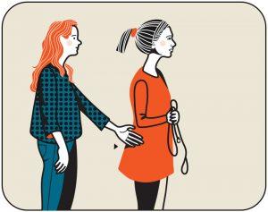 Illustration av signalen för sätt hunden fot, alternativ 1