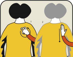 Illustration av signalen för sök kant, alternativ 1