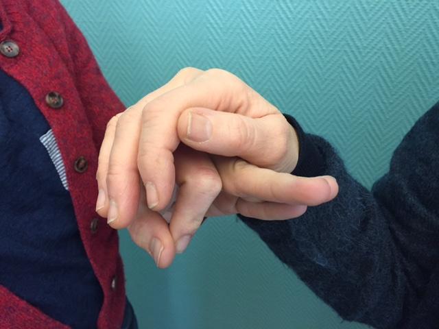Närbild två händer