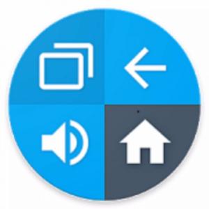 Logon för Button Mapper, en cirkel som består av 4 delar medolika vita synboler mot bakgrund i olika vita färger.