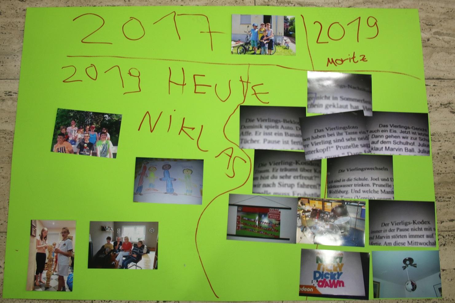 Ett collage med foton och text på ett blädderbock.
