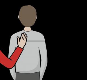 illustration: signal för att växla powerpoint-bild