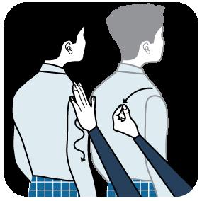 illustration av signal för vit