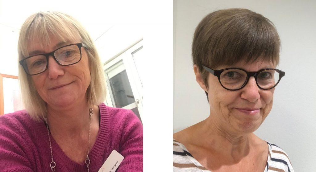 två kvinnor med glasögon