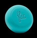 Bild som viser en blå knap med ordet Flic