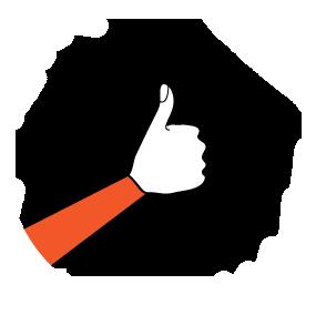 illustration handform för b-hand