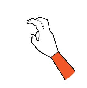 illustration handform för dubbelkroken