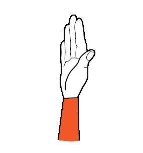 illustration handform för j-hand