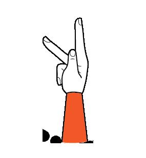 illustration handform för k-hand