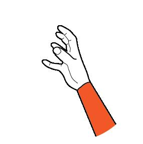 illustration handform för klohand