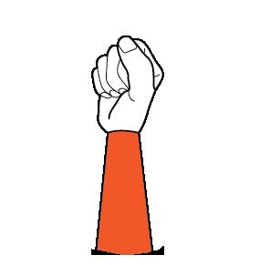 illustration handform för knuten hand
