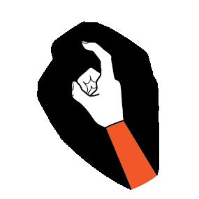 illustration handform för krokfinger