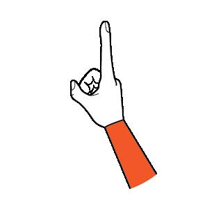 illustration handform för pekfinger