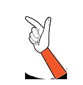 illustration handform för t-hand
