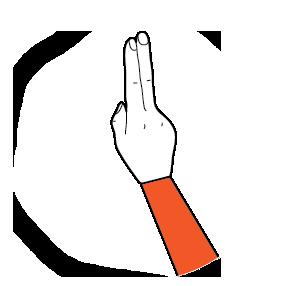 illustration handform för u-hand